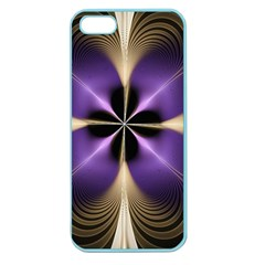 Fractal Glow Flowing Fantasy Apple Seamless Iphone 5 Case (color)