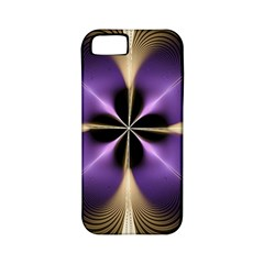 Fractal Glow Flowing Fantasy Apple Iphone 5 Classic Hardshell Case (pc+silicone)