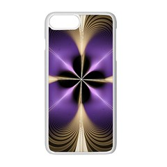 Fractal Glow Flowing Fantasy Apple Iphone 8 Plus Seamless Case (white)