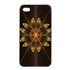 Fractal Floral Mandala Abstract Apple Iphone 4/4s Seamless Case (black)