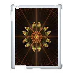 Fractal Floral Mandala Abstract Apple Ipad 3/4 Case (white)