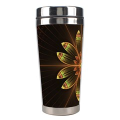 Fractal Floral Mandala Abstract Stainless Steel Travel Tumblers
