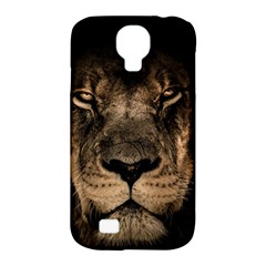 African Lion Mane Close Eyes Samsung Galaxy S4 Classic Hardshell Case (pc+silicone)