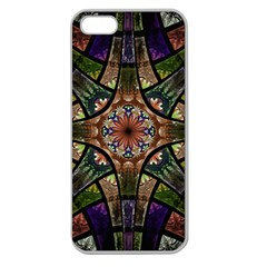 Fractal Detail Elements Pattern Apple Seamless Iphone 5 Case (clear)