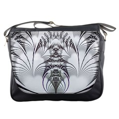 Fractal Delicate Intricate Messenger Bags