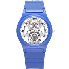Fractal Delicate Intricate Round Plastic Sport Watch (s)