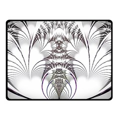 Fractal Delicate Intricate Double Sided Fleece Blanket (small)