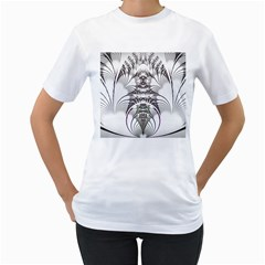 Fractal Delicate Intricate Women s T Shirt (white)