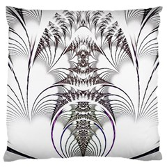 Fractal Delicate Intricate Standard Flano Cushion Case (two Sides)