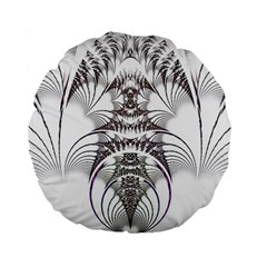 Fractal Delicate Intricate Standard 15  Premium Flano Round Cushions