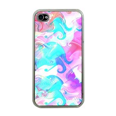 Background Art Abstract Watercolor Apple Iphone 4 Case (clear)