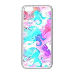 Background Art Abstract Watercolor Apple Iphone 5c Seamless Case (white)
