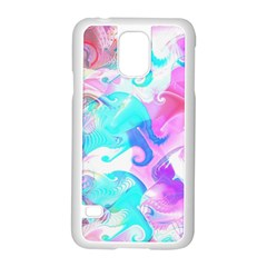 Background Art Abstract Watercolor Samsung Galaxy S5 Case (white)