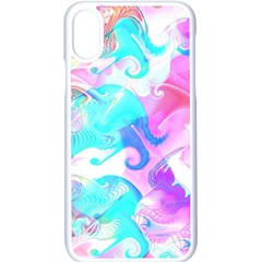 Background Art Abstract Watercolor Apple Iphone X Seamless Case (white)