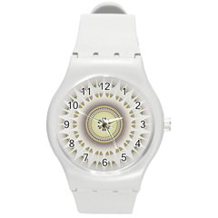 Mandala Fractal Decorative Round Plastic Sport Watch (m)