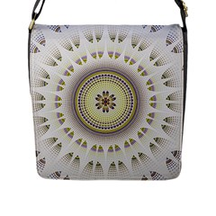 Mandala Fractal Decorative Flap Messenger Bag (l)
