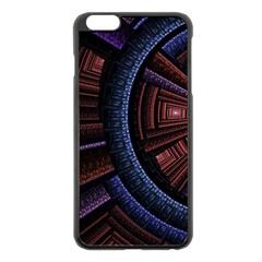 Fractal Circle Pattern Curve Apple Iphone 6 Plus/6s Plus Black Enamel Case