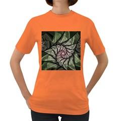 Fractal Flowers Floral Fractal Art Women s Dark T Shirt