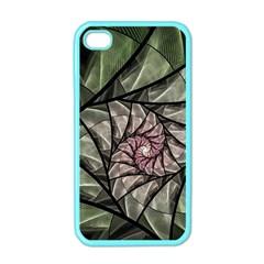 Fractal Flowers Floral Fractal Art Apple Iphone 4 Case (color)