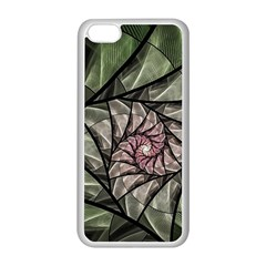 Fractal Flowers Floral Fractal Art Apple Iphone 5c Seamless Case (white)