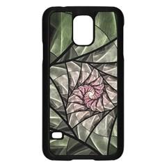 Fractal Flowers Floral Fractal Art Samsung Galaxy S5 Case (black)
