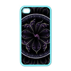 Fractal Abstract Purple Majesty Apple Iphone 4 Case (color)
