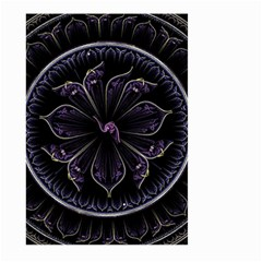 Fractal Abstract Purple Majesty Large Garden Flag (two Sides)