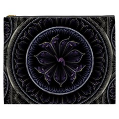 Fractal Abstract Purple Majesty Cosmetic Bag (xxxl)