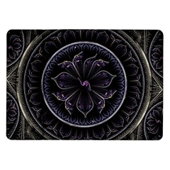 Fractal Abstract Purple Majesty Samsung Galaxy Tab 10 1  P7500 Flip Case