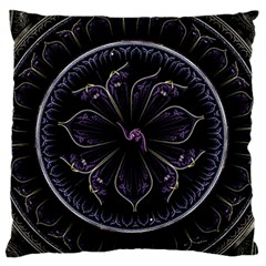 Fractal Abstract Purple Majesty Large Flano Cushion Case (one Side)