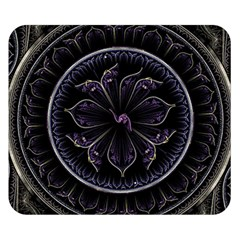 Fractal Abstract Purple Majesty Double Sided Flano Blanket (small)