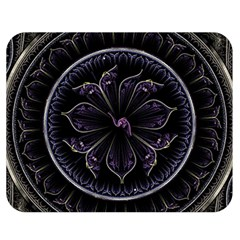 Fractal Abstract Purple Majesty Double Sided Flano Blanket (medium)