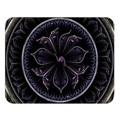 Fractal Abstract Purple Majesty Double Sided Flano Blanket (large)