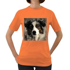 Dog Pet Art Abstract Vintage Women s Dark T Shirt
