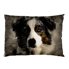 Dog Pet Art Abstract Vintage Pillow Case (two Sides)