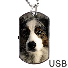 Dog Pet Art Abstract Vintage Dog Tag Usb Flash (one Side)