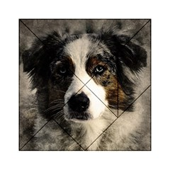 Dog Pet Art Abstract Vintage Acrylic Tangram Puzzle (6  X 6 )