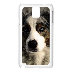 Dog Pet Art Abstract Vintage Samsung Galaxy Note 3 N9005 Case (white)