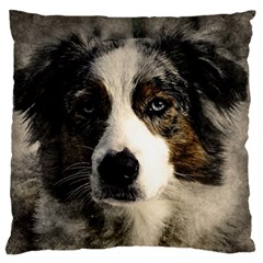 Dog Pet Art Abstract Vintage Large Flano Cushion Case (two Sides)
