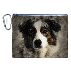 Dog Pet Art Abstract Vintage Canvas Cosmetic Bag (xxl)