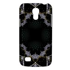 Fractal Aqua Silver Pattern Galaxy S4 Mini