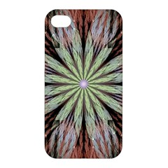 Fractal Floral Fantasy Flower Apple Iphone 4/4s Premium Hardshell Case