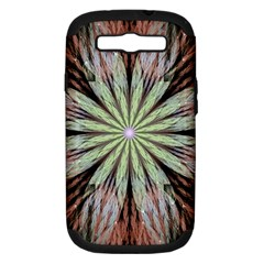Fractal Floral Fantasy Flower Samsung Galaxy S Iii Hardshell Case (pc+silicone)