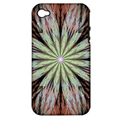Fractal Floral Fantasy Flower Apple Iphone 4/4s Hardshell Case (pc+silicone)