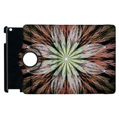 Fractal Floral Fantasy Flower Apple Ipad 2 Flip 360 Case