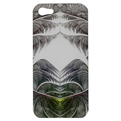 Fractal White Design Pattern Apple Iphone 5 Hardshell Case