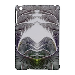 Fractal White Design Pattern Apple Ipad Mini Hardshell Case (compatible With Smart Cover)