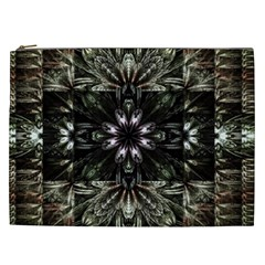 Fractal Design Pattern Texture Cosmetic Bag (xxl)
