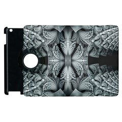 Fractal Blue Lace Texture Pattern Apple Ipad 2 Flip 360 Case