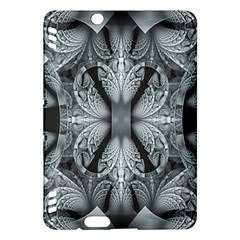 Fractal Blue Lace Texture Pattern Kindle Fire Hdx Hardshell Case